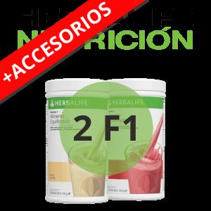 2 Fórmula 1 de Herbalife + Accesorios